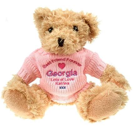 Personalizado mejor amigo Forever luz marrón oso de peluche, especial mejor amigo oso de peluche