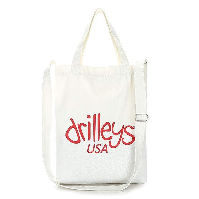 Señoras reutilizables lienzo bolsas de compras hombro ...