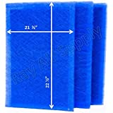 StratosAire Air Cleaner Replacement Filter Pads 24x24 Refills (3 Pack) BLUE
