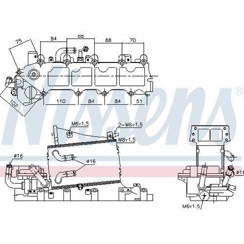 Nissens 96317 Turbo Intercooler: