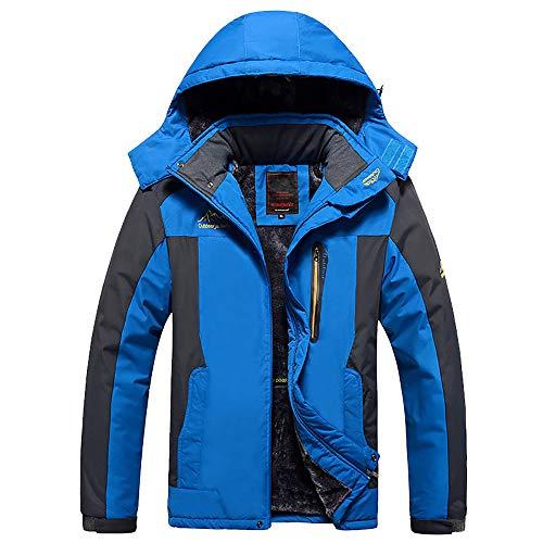 D'hiver Extérieure a Hommes Coupe Multi Pour Toison Blue Imperméable poches vent Vest wp6qq