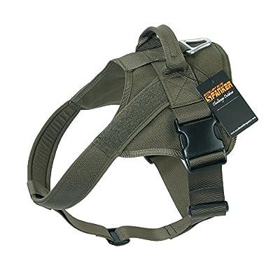 EXCELLENT ELITE SPANKER Tactical Dog Harness Military Training Patrol K9 Service Dog Vest Adjustable Working Dog Vest with Handle