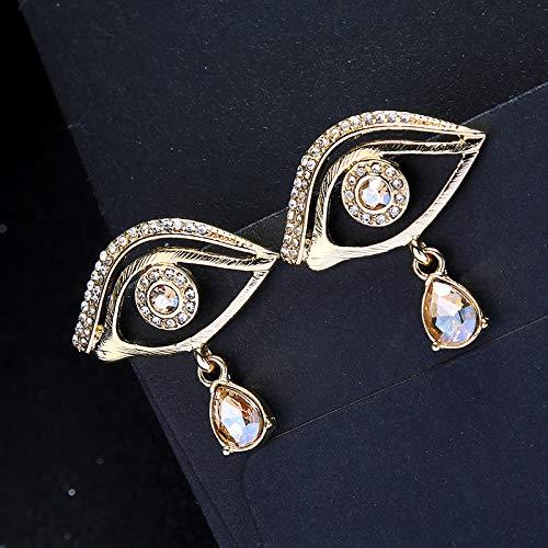 TIDOO Jewelry Womens Eye Shaped Stud Earrings Funny Tassel Ear Studs for Girls
