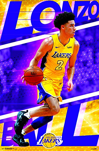 Poster Los Angeles Lakers Basketball - Trends International Los Angeles Lakers-Lonzo Ball Wall Poster, 22.375