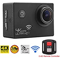 1080P Ultra HD 4K Action Sports Camera WiFi Waterproof Recorder Cam With Remote Control