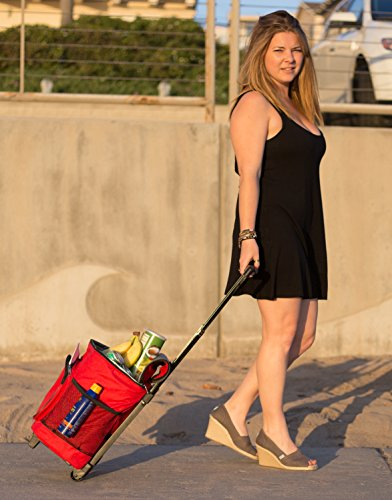 dbest products Ultra Compact Smart Cart,Red Insulated Cooler by dbest products (Image #1)