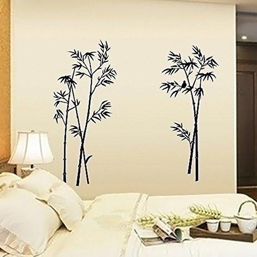 Dragon Honor Black Bamboo Wall Sticker Decals Removable Art Tree Branches  Mural Decoration