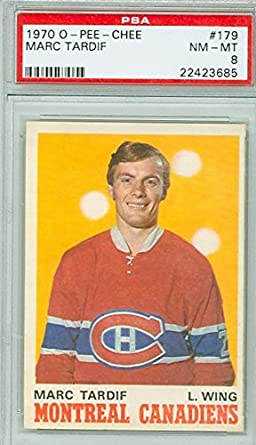 Amazon.com  1970 OPC Hockey 179 Marc Tardif PSA 8  Collectibles ... 7be80cce6