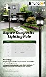 Espero 84-in Outdoor Light PoleDirect Burial Lamp Post for Garden Patio Lawn, Black Polished Finish 3 Pack