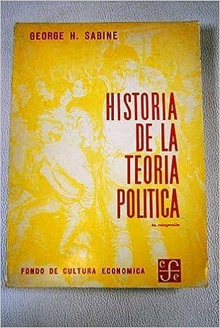 HISTORIA DE LA TEORÍA POLÍTICA: Amazon.es: SABINE, GEORGE: Libros