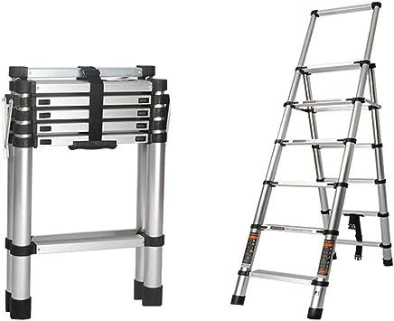 Una Escalera Retráctil En Espiga, Tipo Plegable, De Aleación De Aluminio Grueso Portátil, Escaleras De Ingeniería Doméstica (Size : 5 step): Amazon.es: Bricolaje y herramientas
