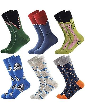 cf039ae4da09 Men's Fun Dress Socks, Colorful Funky Socks for Men, Fancy Novelty Funny  Casual Combed
