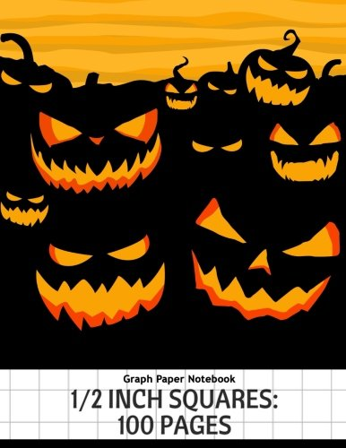Graph Paper Notebook: 1/2 inch squares: 100 pagess Large Print 8.5x11 Halloween Collections (Graph Paper Notebook Halloween) (Volume 6)]()