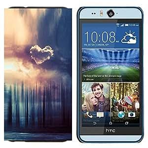 EJOOY---Cubierta de la caja de protección para la piel dura ** HTC Desire Eye M910x ** --Corazón Nube Forrest