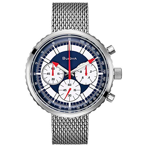 Bulova Men's Quartz Watch with Stainless-Steel Strap, Silver, 20 (Model: 96K101)