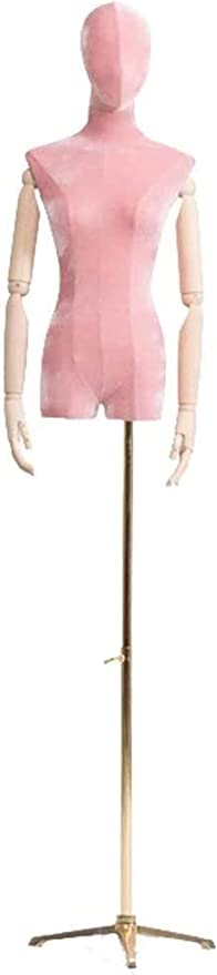 Mannequins de couture reglable Tailleurs factice avec des Bras Tailleurs Dummy VITRINE Buste Mannequin Taille r/églable avec t/ête d/écorative Porte v/êtement Mannequin Color : Round