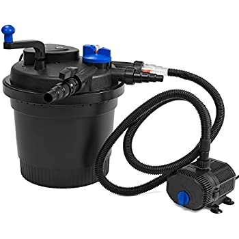 Xtremepowerus koi pond bio filter and 100w for 100 gallon pond pump filter