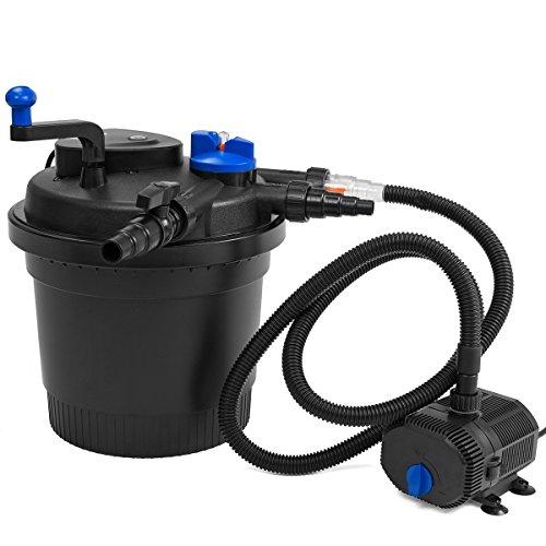 XtremepowerUS Koi Pond Bio Filter and 100W Pump Set Bio UV-C Press by XtremepowerUS