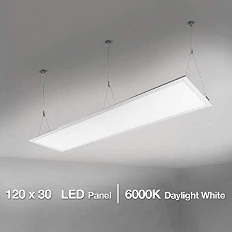 Lighting EVER Panel LED, 36W=80W Fluorescente, 6000K, Luz de Techo, Oficina, Salón, Despacho, Sala de Reunión, Blanco Frío