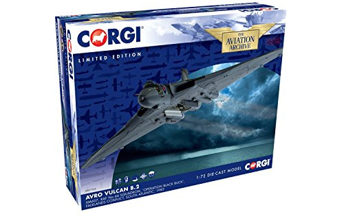 Corgi Avro Vulcan B.2, XM607, Raf No.44 Squadron, 'Operation Black Buck', Falklands Conflict, South Atlantic, 1982 Collector Airplane Kit (Black Buck Operation)