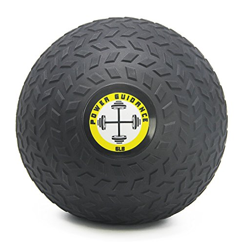 POWER GUIDANCE Slam Ball, Medicine Ball, Weight Available: 6, 8, 10, 15, 20, 25, 30 Lbs, Great for Core Training & Cardio Workouts (6)