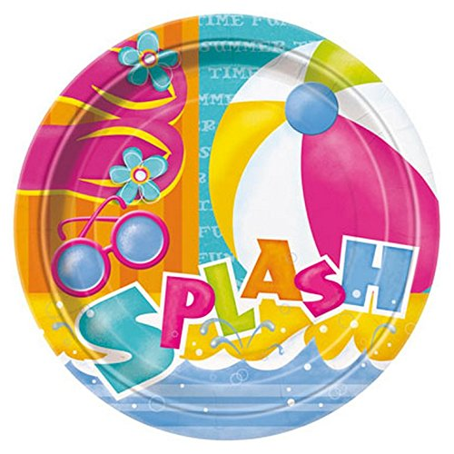 Amazon.com: Summer Pool Splash Themed Party Supply Kit Serves 8: Toys & Games