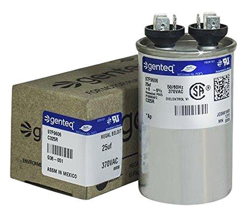 (Genteq C325R 25 UF MFD X 370 Vac GE Industrial Replacement Capacitor Round, 97F9606)