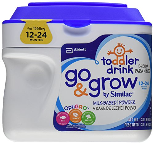 Similac Go & Grow Toddler Formula, Milk-Based, with Iron, Powder, 12-24 Months, 1.38 lb
