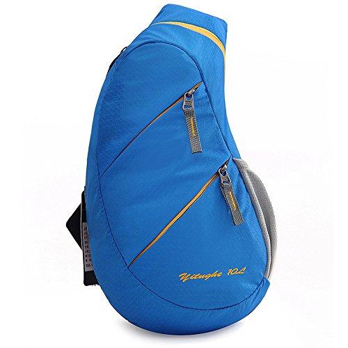 Tela capacidad cofre Paquete cofre Bolso 35 mujer blue Usable Hombre agua Paseo A de y prueba mensajero Gran de Viajar 25 nylon de blue del Paquete 11 de E5ExqBaw