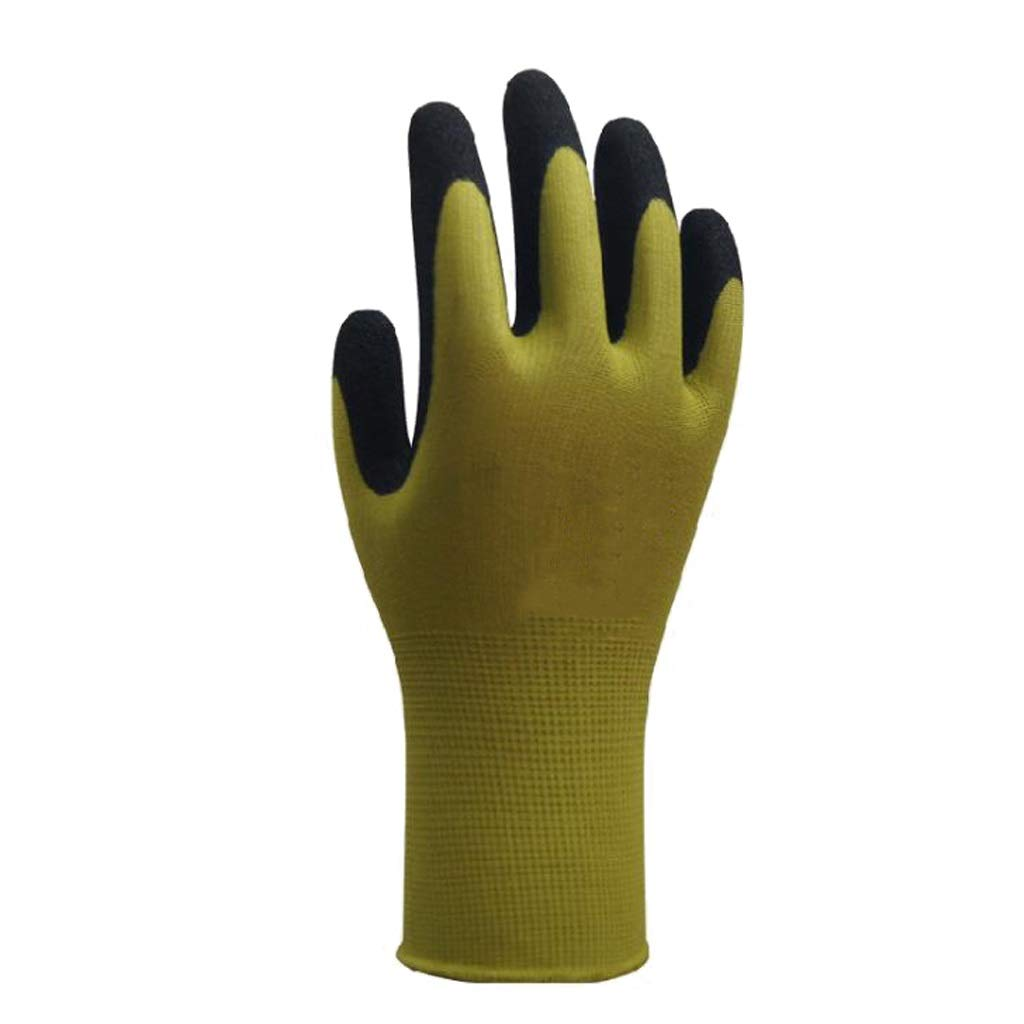 LDKFJH Work Gloves Gardening,Nylon Knit Industrial Gloves with,for Men and Women Gardening, Breathable,Knit Wrist Cuff (Color : A)