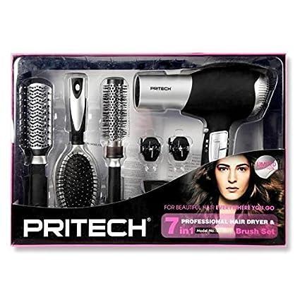 Pritech LD6071 - Secador para el pelo con 6 accesorios (potencia 2000 W),