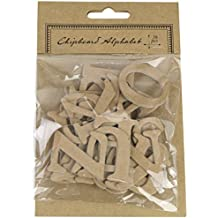 Kel-Toy Chipboard Alphabet Letter Stickers, (Pack of 36)