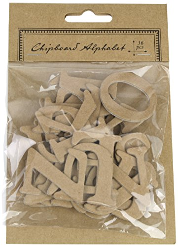 Chipboard Letters - Kel-Toy Chipboard Alphabet Letter Stickers, (Pack of 36)