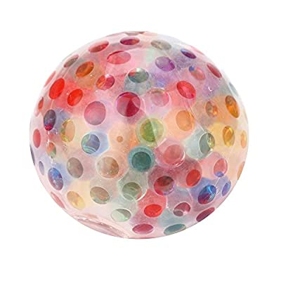 Ackful????Spongy Rainbow Ball Toy Squeezable Stress Squishy Toy Stress Relief Ball for Fun: Toys & Games