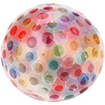 Decompression Toys,St.Dona Spongy Bead Ball Squeezable Stress Relief Ball Toys (6cm, Multicolor)