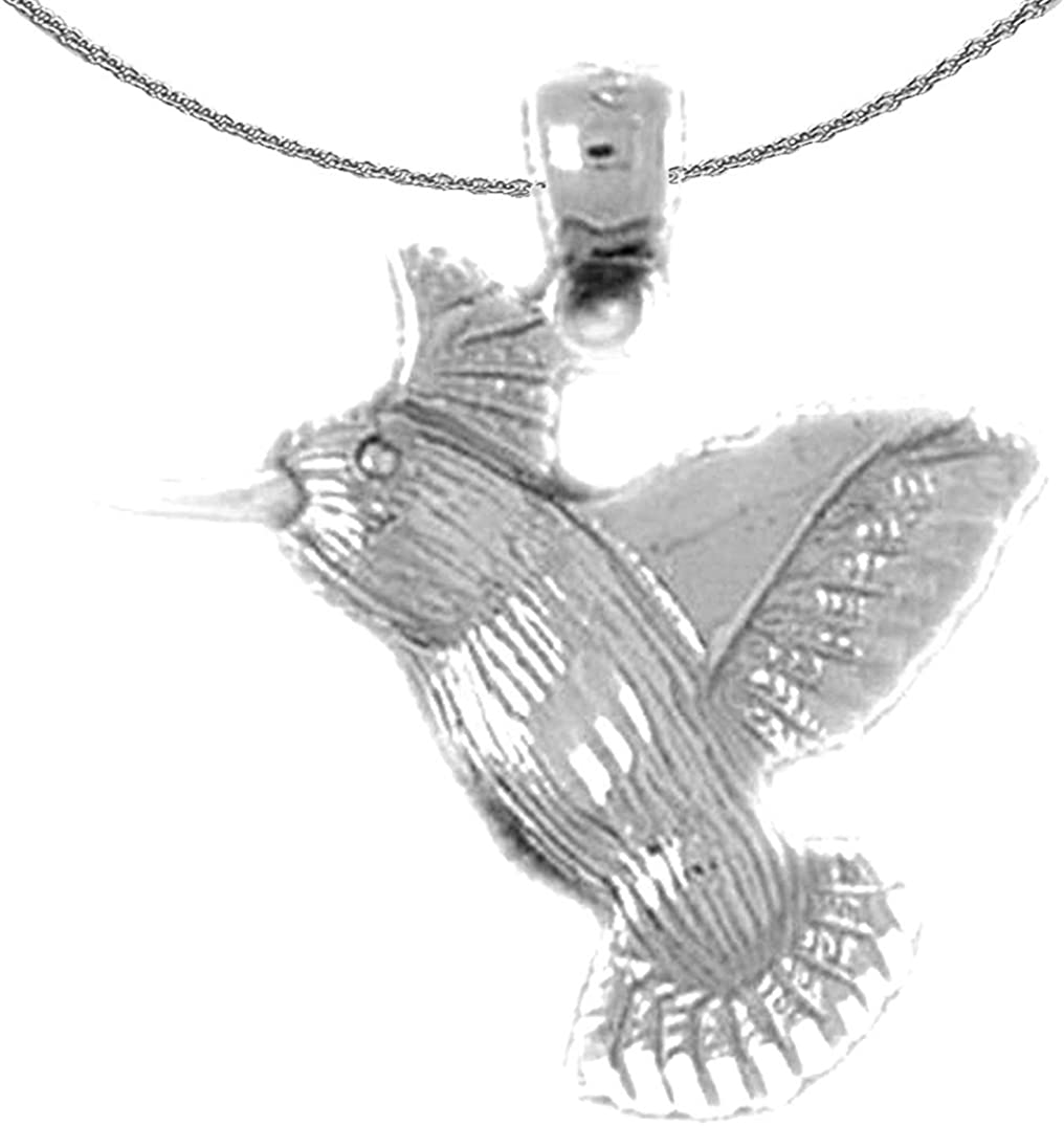 Jewels Obsession 14K White Gold Cat Pendant 23 mm
