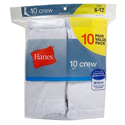 Hanes Men's 10-Pack Crew Socks