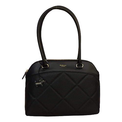 0abe78479b RADLEY 'Fenchurch Street' Large Black Leather Shoulder Bag: Amazon.co.uk:  Shoes & Bags