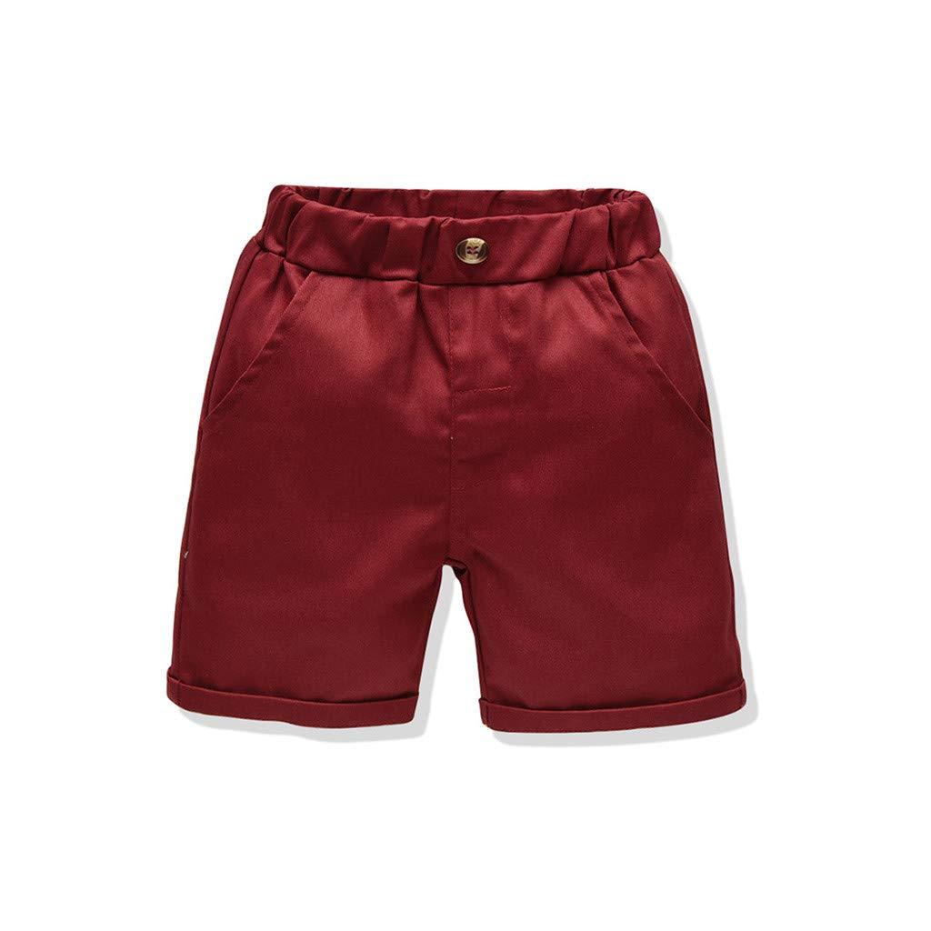 Maglietta Bambino Cotone T-Shirt Manica Corta Bambina Ragazzi Piccolo A Maniche Corte Floreale T-Shirt Camicetta VICGREY Pantaloncini Set di Abbigliamento Completo Hawaiana 0-5 Anni