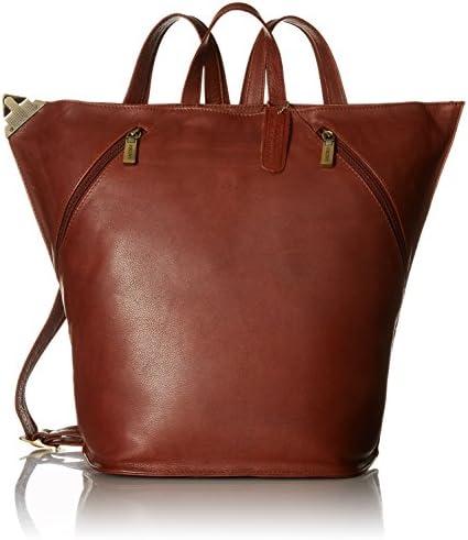 Visconti Ladies Triangular Leather Backpack Rucksack Large