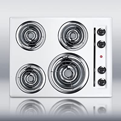 Summit WEL03 24 Electric Cooktop 4 Coil Elements - White