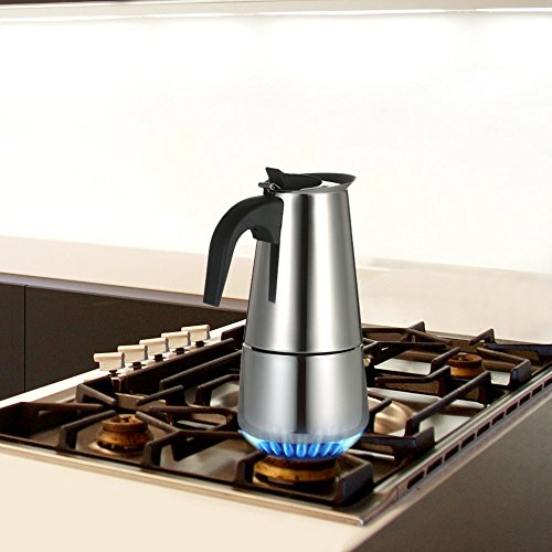 Decdeal Stainless Steel Espresso Percolator Coffee Stovetop Maker Mocha Pot for Use on Gas or Electric Stove