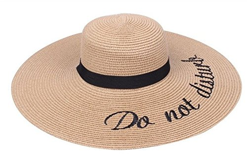 4080668f9f6 Amtal Women Do Not Disturb Beach Style Casual Fedora Hat w/Ribbon ...