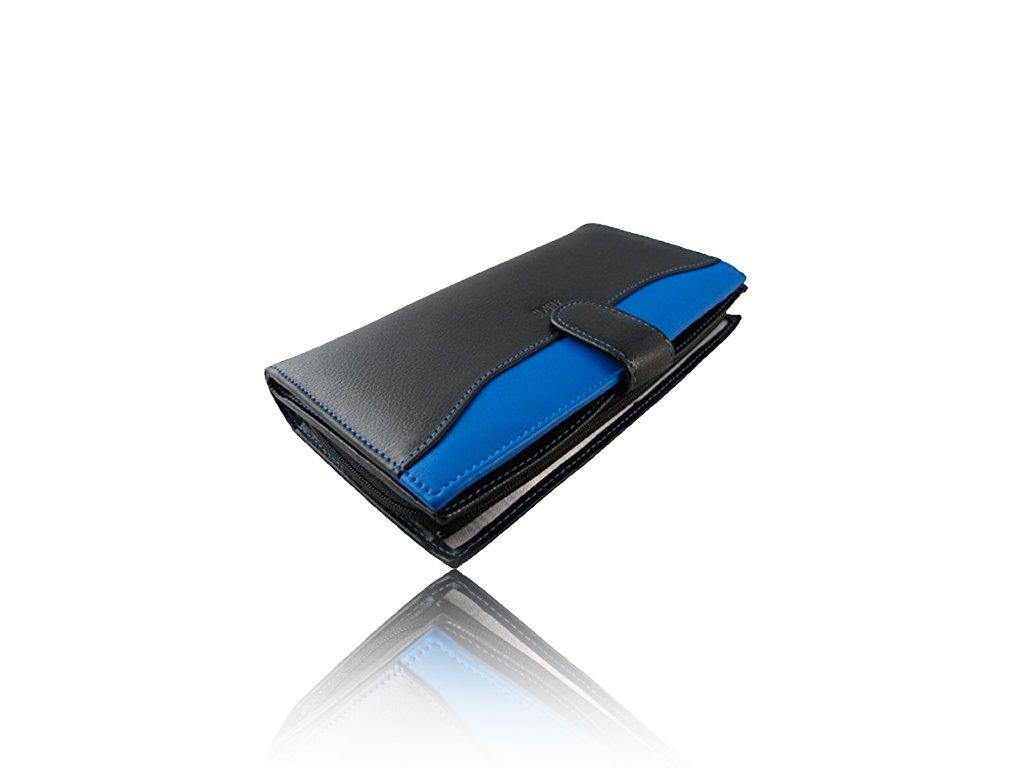 Portefeuille femme cuir - Portefeuille en cuir Compagnon Noir-Bleu- Stylet OFFERT (noir)