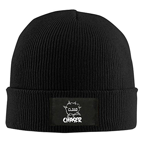 Womens CLOUD CHASER Vape Ecig Competition Ohm Mods Warm Mountain Climbing Warm Knit Beanie Skull Cap Cuff Beanie Hat Winter Hat Black (Camo Beanie Dodge Ram)