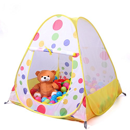 Truedays¨ 36.6'' X 38.2''kids Teepee Play Tent Ball Pit Playhouse - Indoor and Outdoor Children Play Tent - Balls