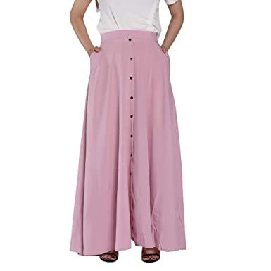 AMhomely - Falda Plisada para Mujer, Estilo Vintage, Color Puro ...