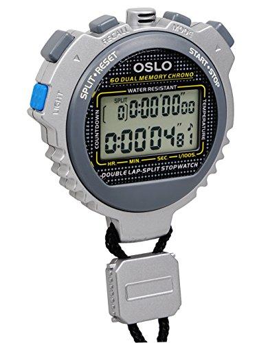 Robic 67764 Oslo Silver 60 Sixty Memory Stopwatch