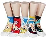 Socksense Animation Character Disney Series Women's Original Socks (Pretty_5pairs)