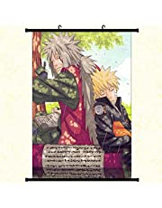 Juice-ma Anime Arte Cosplay Poster e Naruto Naruto Shippuden Anime Muro Pergamena Poster Tessuto Pittura (30 45 cm Stile 2)